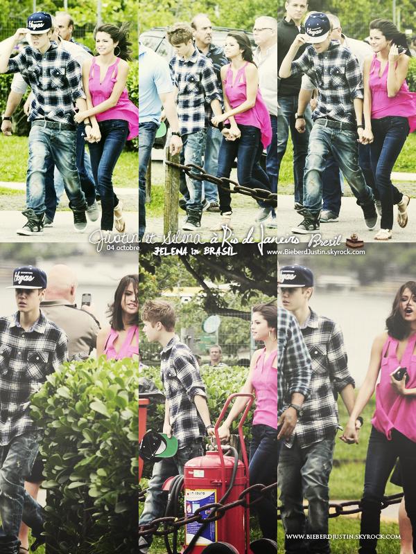 _NEW, CANDIDS_ Justin et Selena ont été vu à Rio de Janeiro au Brésil, le 4 octobre.
