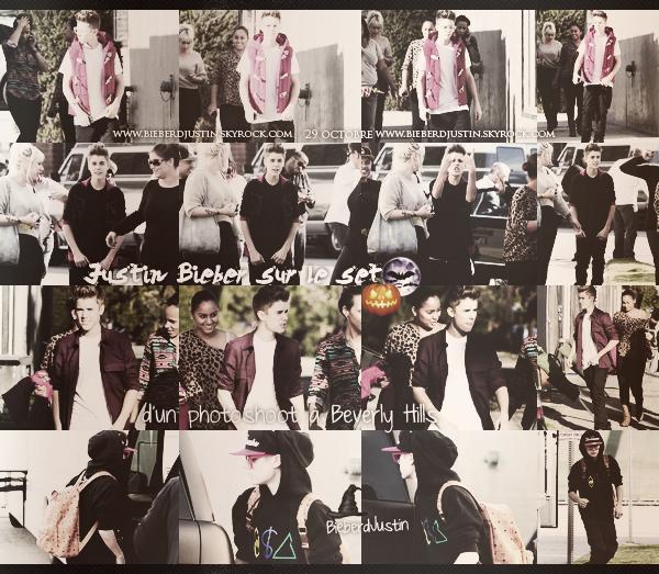 Justin et son nouveau look étaient présent sur le set d'un photoshoot à Beverly Hills, le 28 octobre. TOP / FLOP ?