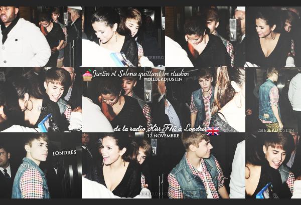 Justin et Selena ont été vu quittant les studios de la radio Kiss FM à Londres, hier, 12 novembre. Top ou Flop ?