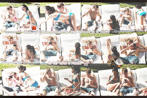 Justin et Selena Gomez sur une plage du Mexique, toujours ce 7 décembre.