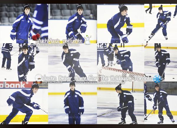 Justin était présent ce 20 décembre pour jouer au hockey au Canada.