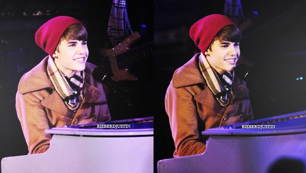 Justin était présent la veille du 1er janvier, donc 31 décembre à Times Square à New York afin de fêter la nouvelle année.