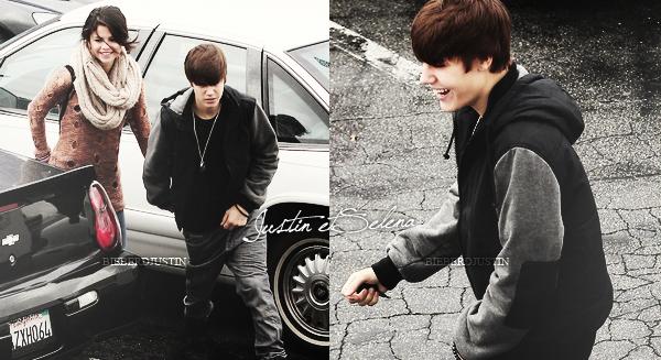 ▬ Mercredi 15 Février    Le couple Justin / Selena, souriant ont été vu allant au iHop à Encino en Californie. TOP ! Justin et Selena se tiennent la main, ils sont mignon, sinon, j'aime beaucoup la tenue de JB, le gilet surtout. Top ou flop ?