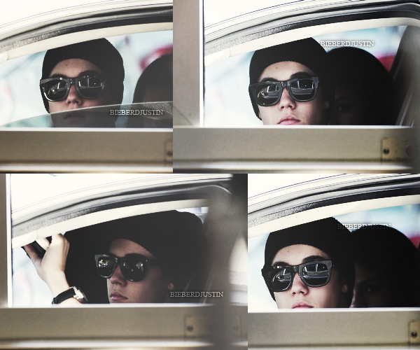 _CANDIDS_ Justin a été aperçu hier, 8 avril, discutant avec un policier pour déplacer sa voiture dans Los Angeles