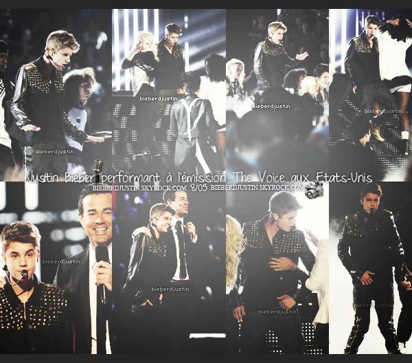 JB a performé hier soir, 8/05, à l'émission The Voice aux USA, interprétant pour la première fois sur un plateau Boyfriend.