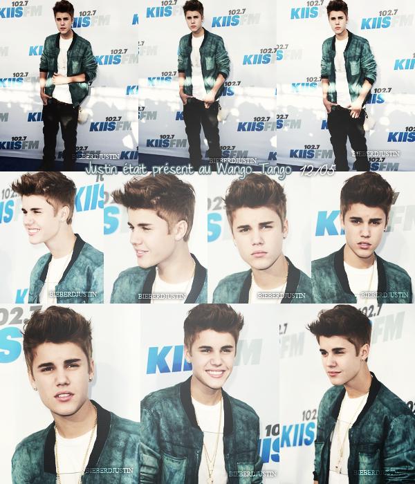 Justin était présent le 12 mai au Wango Tango afin d'introduire son artiste Carly Ray Jepsen lors du show.