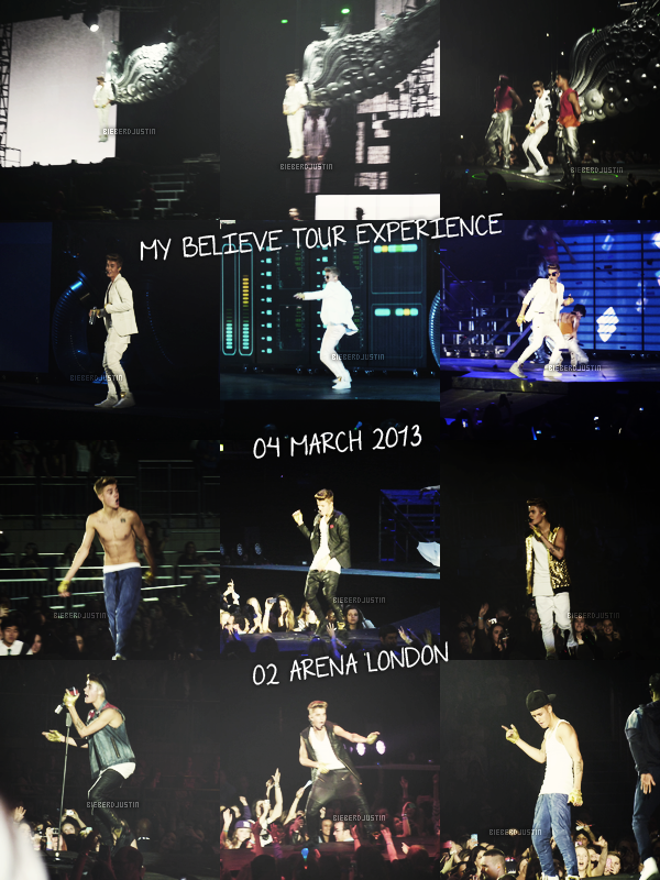 MY BELIEVE TOUR EXPERIENCE - MONDAY 4TH MARCH 2013 - O2 ARENA LONDON - JADEN SMITH / CODY SIMPSON / CARLY RAE JEPSEN