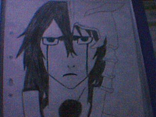 Mon dessin d'Ulquiorra Shiffer dans Bleach
