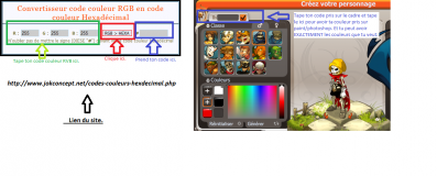 Couleurs Paint/Photoshop --> Couleurs Dofus