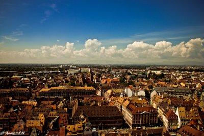 """Cathedrale de Strasbourg """" Vu d'en haut"""""""