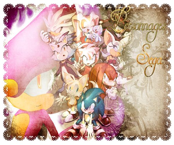 Les personnages de Sega présents.