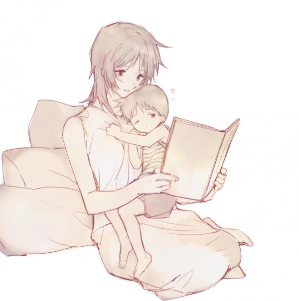 Ma mère et moi quand j'étais enfant.