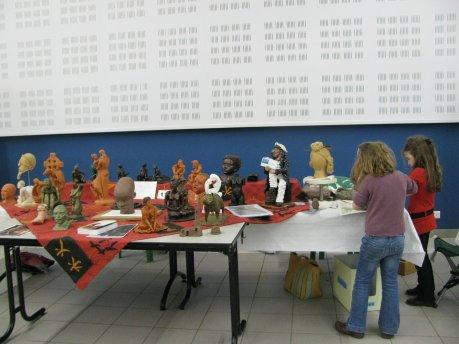 les talents de l'iroise 2010 notre stand de sculptures