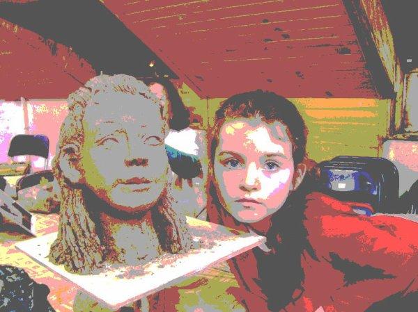 mes petits enfants  en sculpture