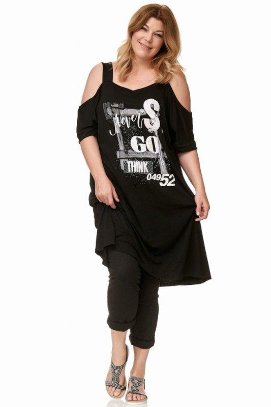 Robe T-shirt à découpes avec une impression élégante