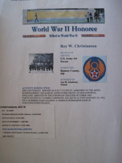 Roy W. CHRISTIANSON