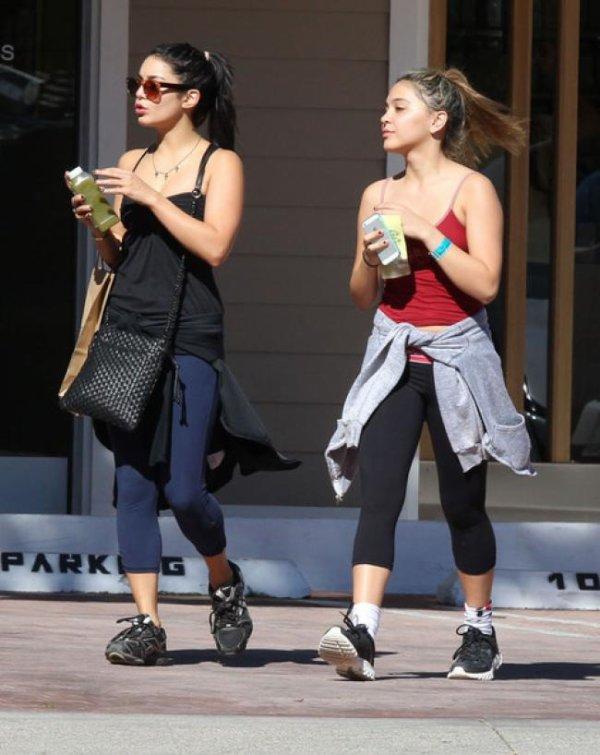 Vanessa Hudgens pour une séance de sport entre soeurs! :)