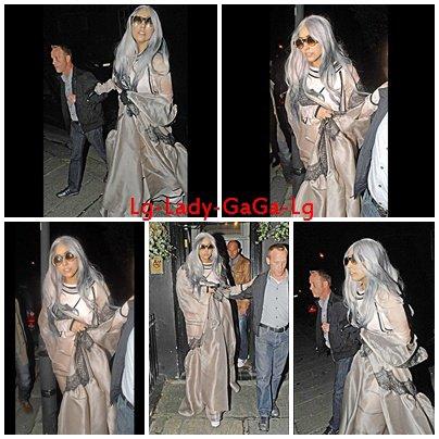 Newsletter : Lady GaGa au Pub Cross Key à Londres