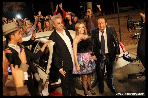 """INEDIT !  - JEANNE MAS SUR LE TOURNAGE DE """"STARS DES ANNEES 80"""""""