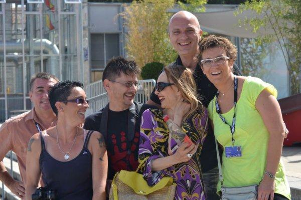 JEANNE & ses fans  dans les rues d'Angoulème !  (25/08/12)