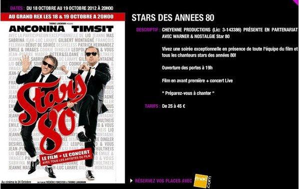 """NEWS """"STARS 80 """" - JEANNE à l'avant-première à PARIS !"""