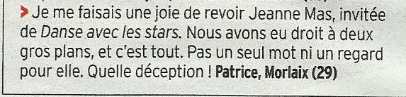 "Regardez  JEANNE MAS dans ""DANSE AVEC LES STARS "" (TF1)"