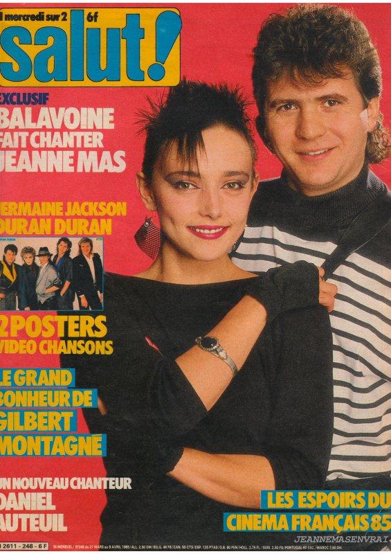 """Il y a 27 ans, il nous quittait... - Semaine spéciale sur JEANNEMASENVRAI : - """"JEANNE MAS rend hommage à Daniel BALAVOINE"""" !"""