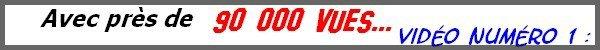 """JEANNE MAS sur YOUTUBE - TOP 10 du """"Nombre de vues"""" de la chaîne YOUTUBE JEANNEMASENVRAI"""