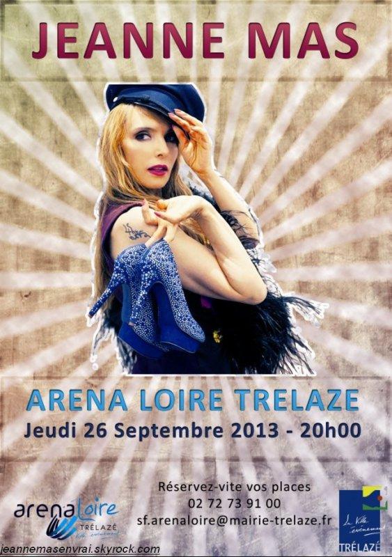 TOURNEE ETE 2013 !!! ]- JEANNE MAS en concert à ANGERS - Le 26 septembre 2013 !