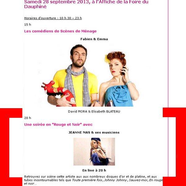 NOUVELLE DATE TOURNEE ETE 2013 - JEANNE MAS en concert - le 28 septembre 2013 - à ROMANS (26 - DROME)