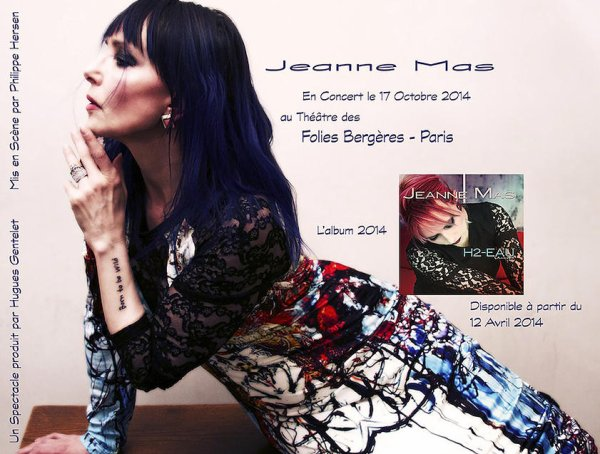 EVENEMENT -  JEANNE MAS EN CONCERT  - aux FOLIES BERGERE (PARIS) - LE 17 OCTOBRE 2014