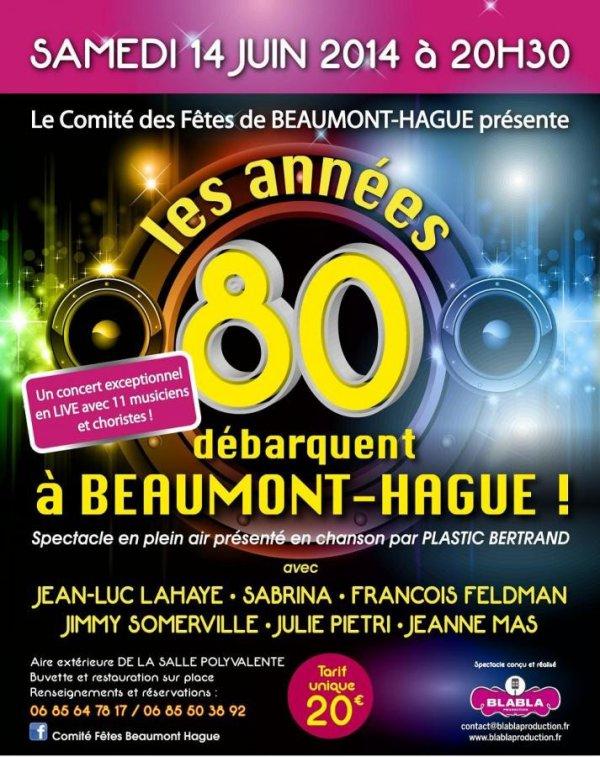 Samedi 14 juin 2014 - JEANNE MAS en concert - à Beaumont -Hagues (50 - La Manche)