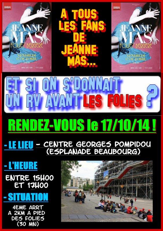 """""""Y'a pas d' mal à s'donner des RV"""" (Jeanne Mas - """"les dimanches"""") - Avant le concert ... Les fans se rencontrent pour 2 évènements !"""