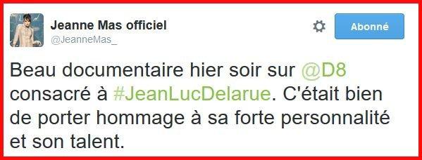 News Twitter : JEANNE rend hommage à Jean-Luc Delarue