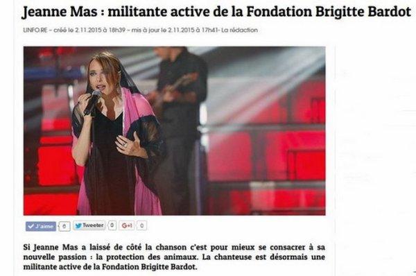 Découvrez JEANNE interviewant Christophe Marie  (Directeur de la Fondation Brigitte Bardot) +  Les retombées de l'article de PARIS MATCH