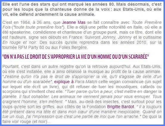 NEWS PRESSE (suite) - Après France Dimanche, Closer.fr consacre un article au combat de JEANNE pour les loups !