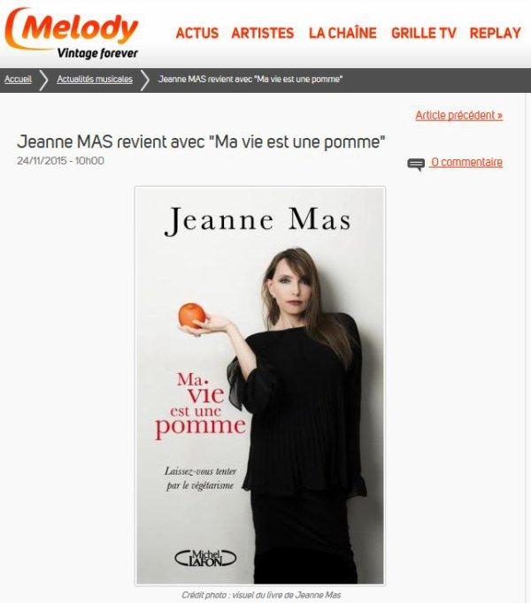 """L EVENEMENT - JEANNE MAS - Le livre """"Ma vie est une pomme"""