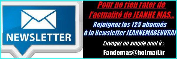 Abonnement à la Newsletter JEANNEMASENVRAI