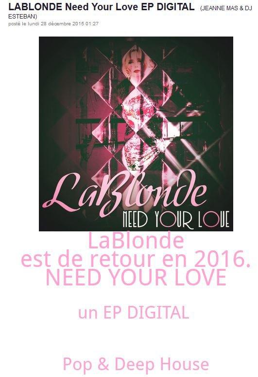 News Web : LABLONDE est de retour  !!!