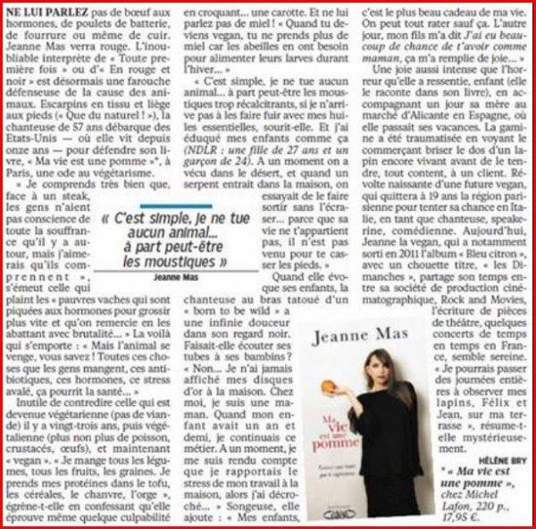 """NEWS PRESSE : Grand article sur Jeanne dans """"Le Parisien-Aujourd'hui en France"""" (25/02/2016)"""