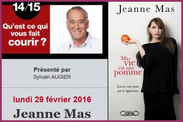 """NEWS RADIO : JEANNE, invitée de Sylvain Augier dans son émission """"Qu'est ce qui vous fait courir """" sur SUDRADIO"""