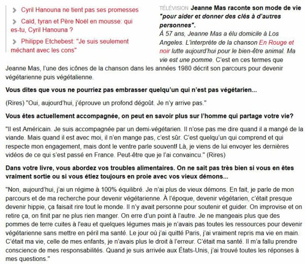 "NEWS WEB : Interview de JEANNE sur le site belge ""DH.be"""