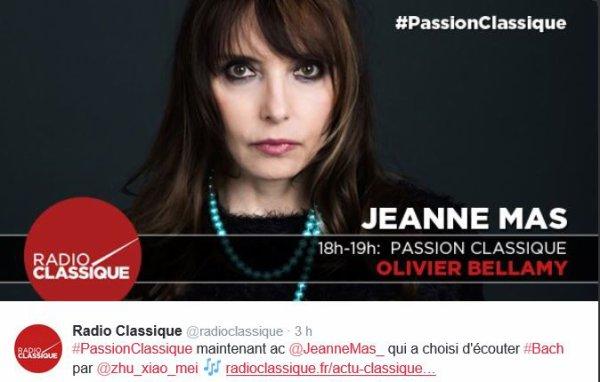 NEWS RADIO : Jeanne, sur Radio Classique ce jeudi 10 mars à 18h00 !