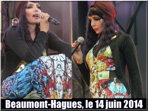 Il y a 2 ans jour pour jour... - JEANNE MAS était en concert à   BEAUMONT-HAGUES (50-Manche)