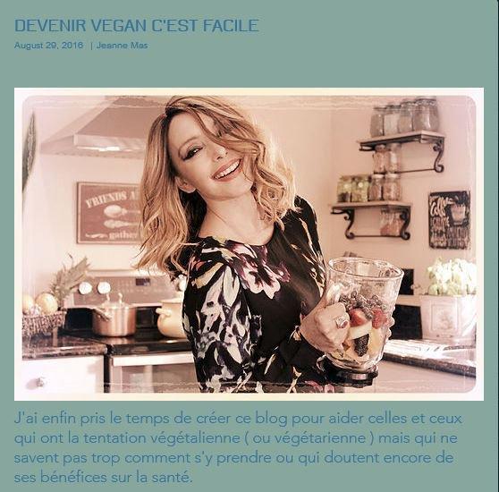 News Web : JEANNE vient de créer son blog  pour ceux et celles qui veulent devenir végétariens ou végétaliens !