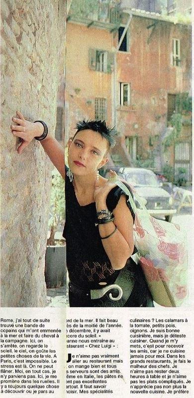 En attendant des news... - Découvrez cet article de presse (printemps 1986) sur la vie de  JEANNE à ROME !