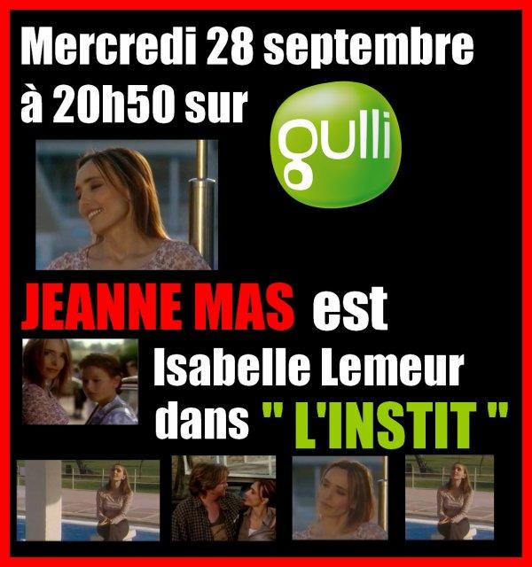 """NEWS TV - Découvrez ou re-découvrez JEANNE actrice dans la rediffusion du téléfilm """"L'instit"""""""
