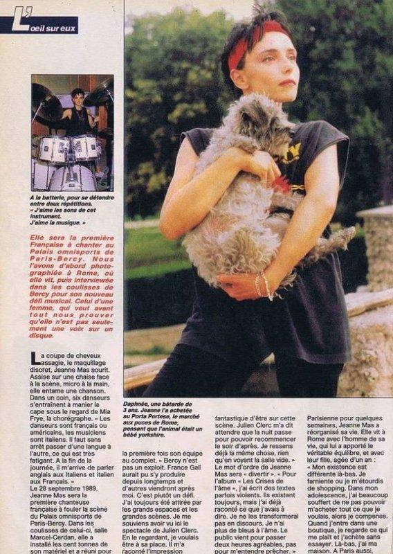 En attendant des news... - Découvrez cet article de septembre 1989 et entrez avec JEANNE dans les coulisses de BERCY