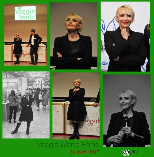 Samedi 22 avril 2017 - JEANNE est présente au Salon VEGGIEWORLD PARIS  - En vidéo, l'intervention intégrale de Jeanne sur la condition animale (avec Christophe Marie)   - Les photos des fans (+ compte-rendu) et celles de  La Fondation Bardot