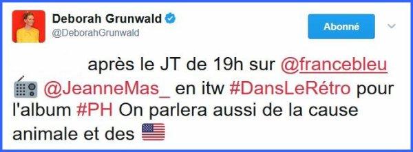 """Promo """"PH"""" (Acte 10) Jeanne était l'invitée ce samedi 6/5/17 de l'émission """"Dans le rétro"""" sur France Bleu  à 19h00"""